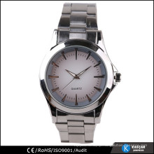 simple watch quartz on dial watch stainless steel