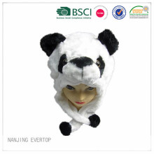 High Quality Winter Panda Head Plush Animal Hat