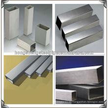 Pulido de alta calidad soldada de acero inoxidable tubo cuadrado