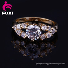 Factory Supplier Cubci Zirconia New Design Gold Finger Ring