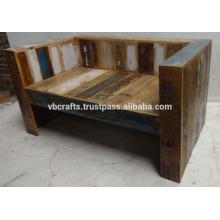 Reciclado de madera de sofá único color de chatarra de madera