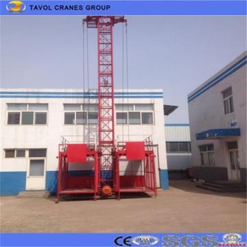 Alzamiento de material de jaula doble Ss100 / 100 1ton para construcción