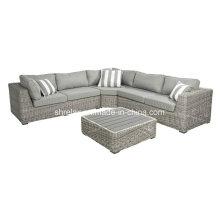Canapé de jardin osier sectionnelle ensemble rotin meubles extérieurs