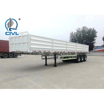 Blue Side Wall semi trailer dengan 3axle