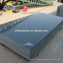 JINBAO grey hard 1.4 -1.8 density new rigid pvc sheet manufacturer