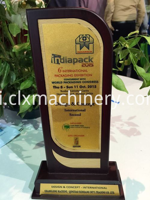 India Most Popular Award for stretch film machine