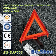Sinal de aviso reflexivo do perigo da segurança do carro para o tráfego