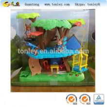 дерево дом пластиковые игрушки медведь леса плесень и литья