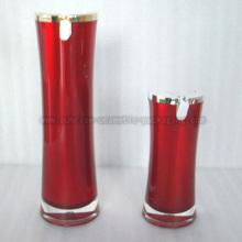 15 мл 50 мл Красная тонкая талия акриловые лосьон бутылки