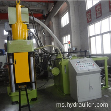 Mesin Press Briquetting Recycle Steel Chips Vertical