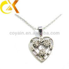 china alibaba Stainless Steel Jewelry pendant, custom cutting heart rhinestone women's pendant