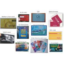 Сусальное золото Штемпелюя визитная карточка PVC