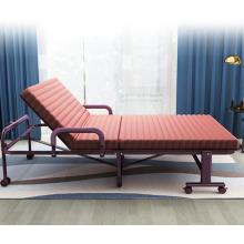 Sofá-cama cadeira dobrável com almofadas confortáveis e cama cadeira dobrável ajustável com rodas