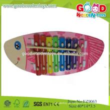 2015 Hotsale Fish Design Wooden Xylophone Brinquedos de música para crianças