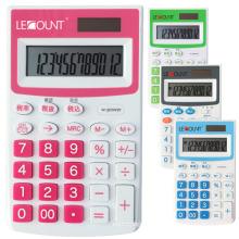 Calculadora de bolsillo de doble dígito de 12 dígitos con función opcional de impuestos En / Jp (LC335)