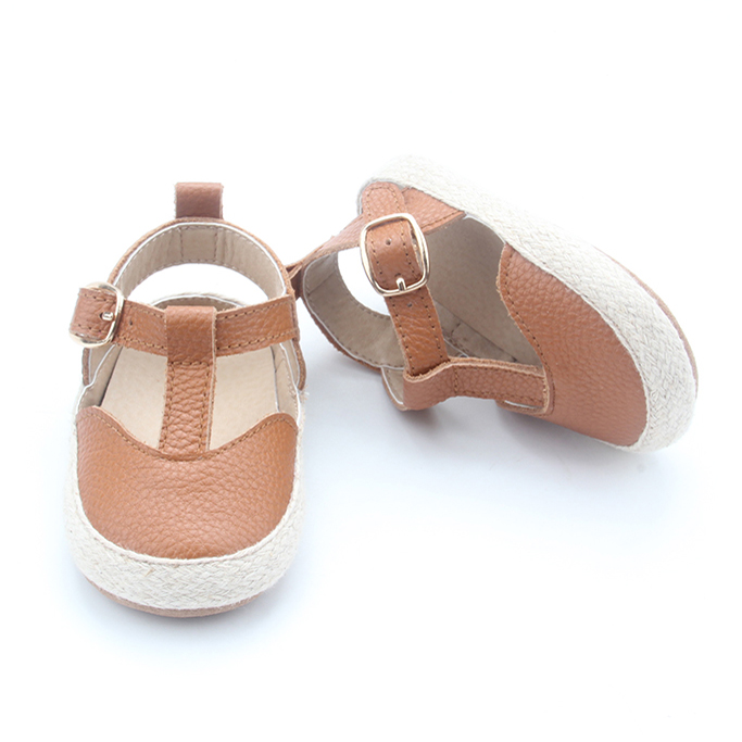 Wholesale T Bar Newborn Baby Leather Sandals