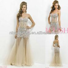 СЗ-445 сексуальное тело иллюзии с драгоценностями и камнями вечернее платье Пром платье