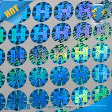 Certificado holograma stickersr / etiqueta de papel de segurança / etiqueta de holograma de proteção ambiental