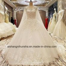 Luxury Wedding Dress The Princess Lace Flower with Drag