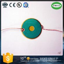Elemento de cerâmica piezo feito por encomenda de fornecedor China com fio (FBELE)