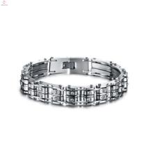 Hot selling couple stainless steel bike chain bracelet, handmade bracelet