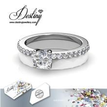 Судьба ювелирные кристаллы Сваровски керамические зачарованное кольцо