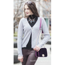 Women′s Cardigan Cashmere Sweater (1500002049)