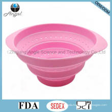 100% Food Grade Collapsible Silicone Fruit Basket for Holiday Sk36 (S)
