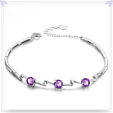 Bracelet en forme de bijoux en cristal Bijoux en argent sterling 925 (SL0082)