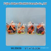 Novas decorações halloween chegada, fantasma de Halloween cerâmica e abóbora de cerâmica por atacado