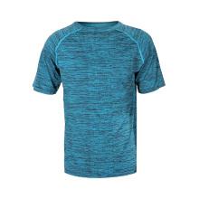 Camiseta masculina respirável de poliéster Sports GYM Workout