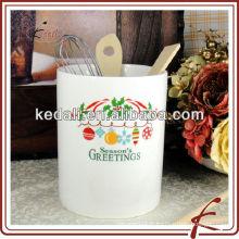 Porte-cuisine en céramique blanche pour Chrismas