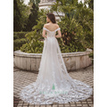 2016 neue Modell Meerjungfrau billig aus Schulter Brautkleid für Braut