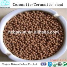 Medios de filtro de arena de cerámica, ceramsite para la venta, material de filtro de arena de cerámica del proveedor