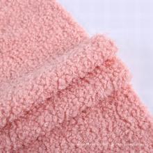 Fashion thermal textiles teddy bear mohair plush flannels fabric changshu baoyujia fleece fabric for coat