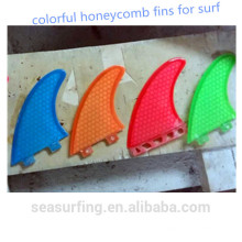 Professional Shaper Hand-made colorful honeycomb surf fins