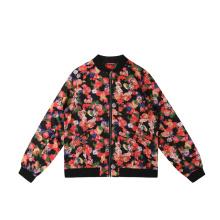 Custom Printed Autumn Windproof Fashion Zippers Woven Plus Size Women'S Jacket