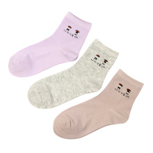 2019 fashion young girl classic vintage casual cotton crew socks women
