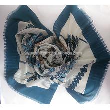 Lenço de lã impressa Mercerized Fashion