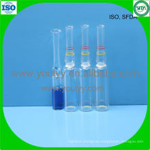 2ml de ampolla médica transparente