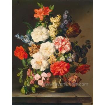 Großhandelssegeltuch-Blumen-Ölgemälde auf Segeltuch-Wand-Kunst für Hauptdekoration (ECH-105)