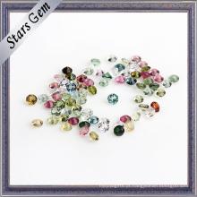 Redondo Pequeno Tamanho Alta Qualidade Colorido Natural Turmalina Gemstone