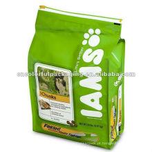 saco de empacotamento de alimento de cão / folha de alumínio pe saco / embalagem de ração animal