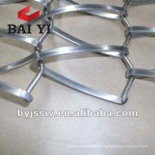 Maille métallique décorative de fil plat