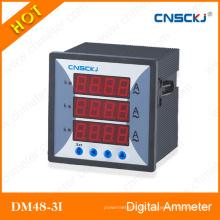 Amperímetro digital trifásico Dm48-3I
