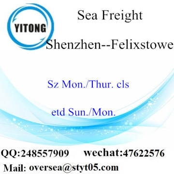 Shenzhen Port LCL Consolidation To Felixstowe