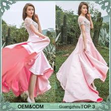 Neueste Frauen Kleider Party lange Hochzeit Abendkleider rosa Frocks Design für Damen