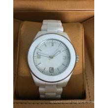 White Ceramic Watch with White Bezel