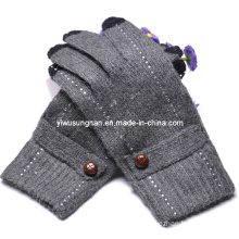 2015 Knitted Lady′s Fashion Finger Touch Gloves