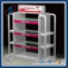 Durable metal supermarket gondola rack